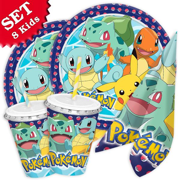 "Basicset ""Pokemon"" für 8 Kids, 64-tlg."