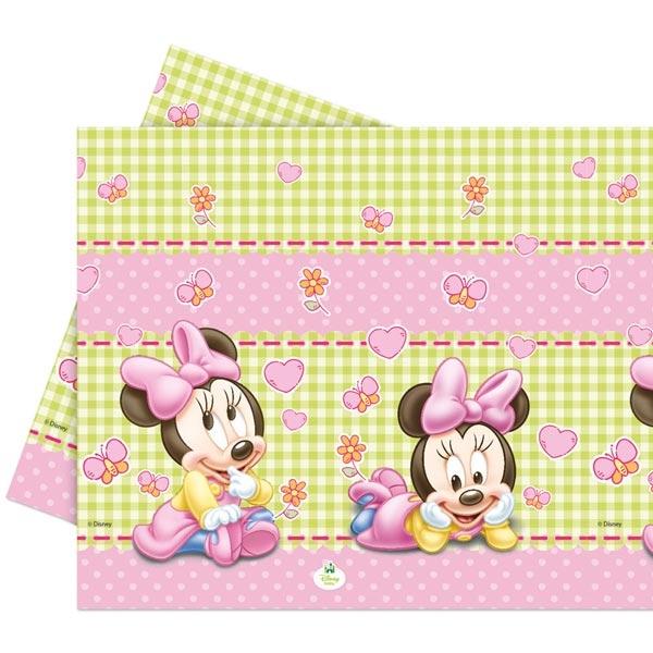 Tischdecke Minnie Baby, 120×180cm, super niedliche Babytischdecke