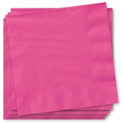 pinke Papierservietten 33x33cm, große Partyservietten in Pink, 2-lagig