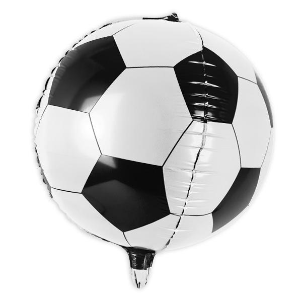"""Kugelrunder Folienballon """"Fußball"""", Ø 40cm"""