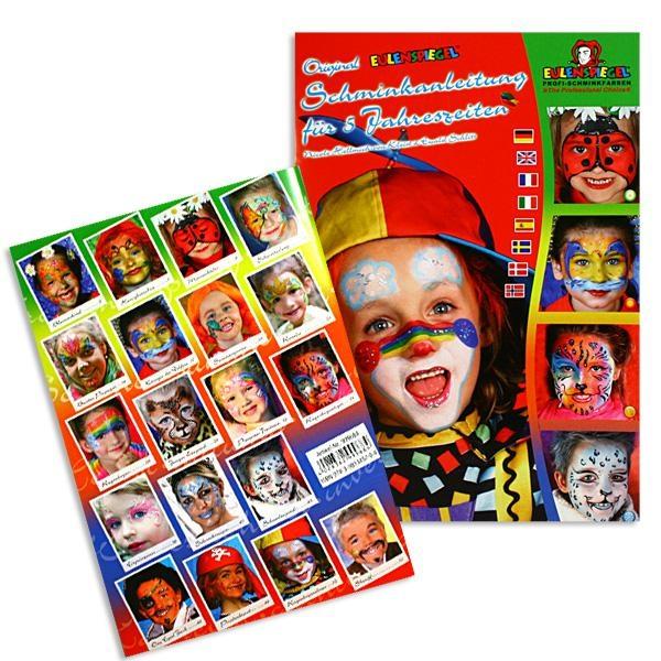 5 Jahreszeiten, Schminkanleitung mit Fotos, 19 Masken