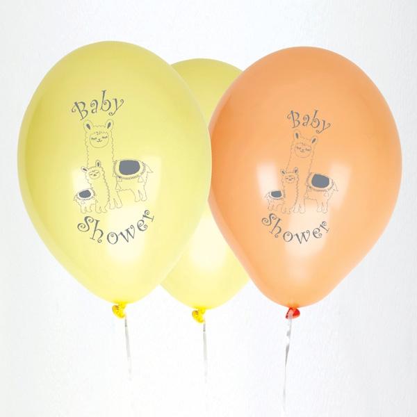 "8 Latexballons ""Lama"", zur Babyparty und Baby Shower"