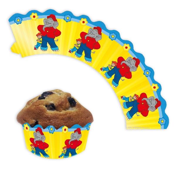 Benjamin Blümchen Muffin-Banderolen, 12 Muffinbänder, Papier