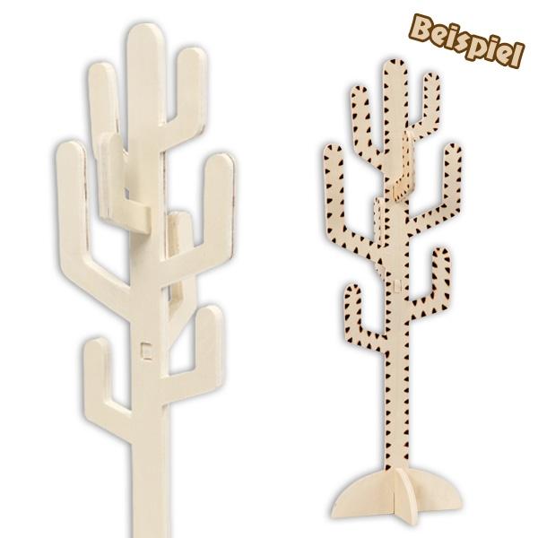 Kaktus aus Holz zum anmalen und verzieren, 38cm x 12cm