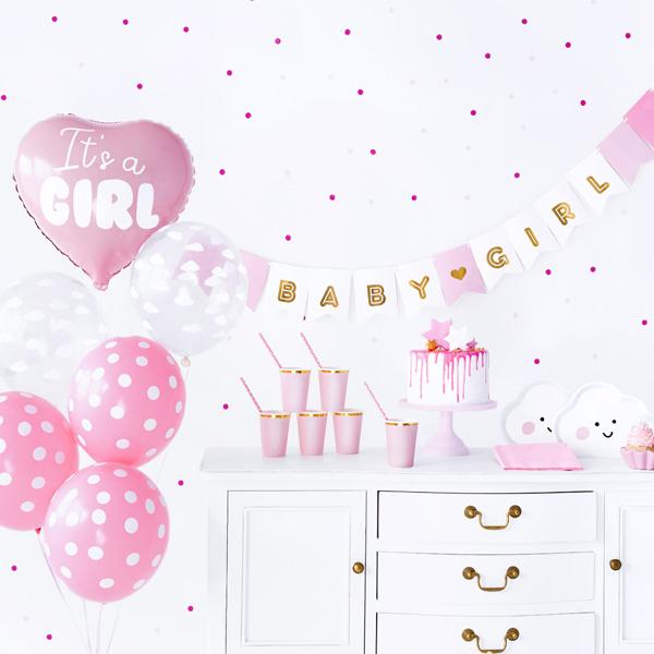 """Partydekoset """"It's a Girl"""", 49-teilig"""