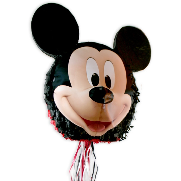 """""""Mickey Maus"""" Pinata zum Ziehen für das schöne Geburtstagsspiel, 33cm"""