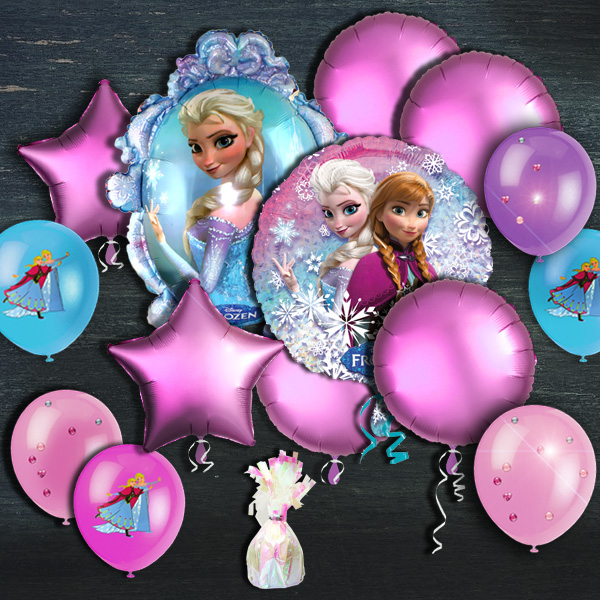"Ballongas-Set ""Frozen"" 50er Heliumgas + Schöne Ballons"