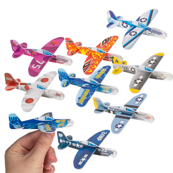 Mini-Flugzeug im 2er Set, ca. 10cm, Kunststoff