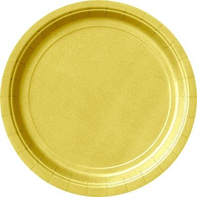 Goldene Pappteller im 8er Pack, Einweg-Kuchenteller 23cm