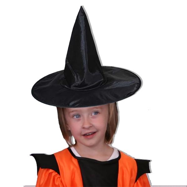 Hexenhut für Kids, für Gruselpartys und Halloween, schwarz