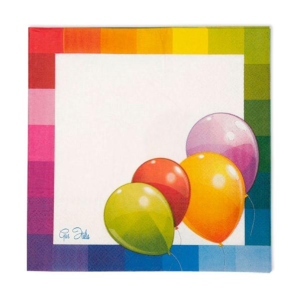 """Partyservietten """"Ballons"""", 16 Stück,  33 cm"""