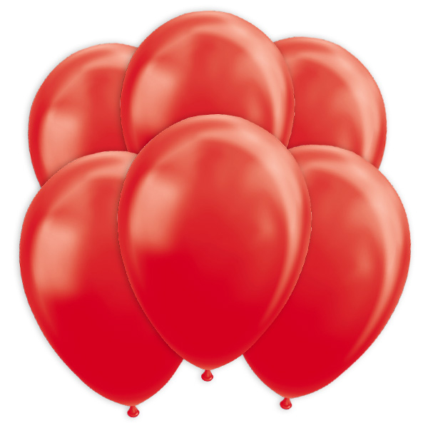Rote Metallic-Ballons, 10 Stk., 30cm