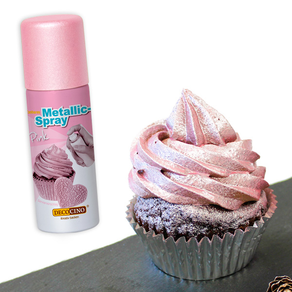 Essbares Metallic-Spray in pink, 50ml