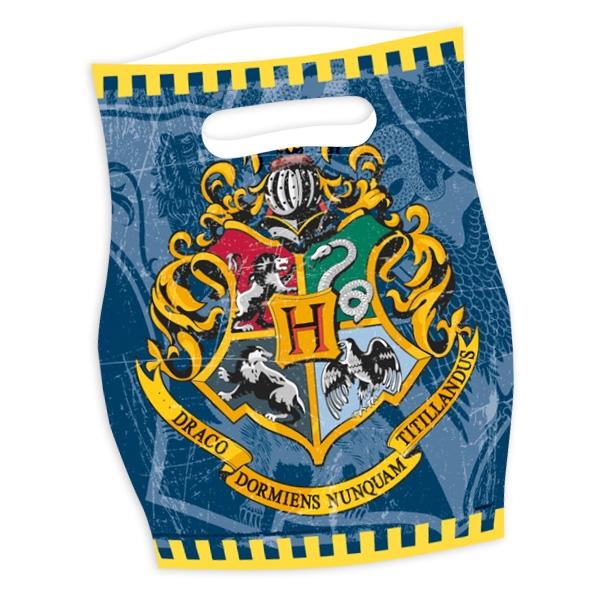 Harry Potter Tütchen mit Wappen von Hogwarts im 8er Pack, Folietüten