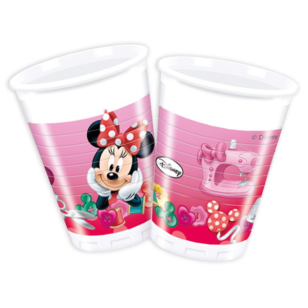 "8 Plastikbecher ""Minnie Maus"", 200ml"