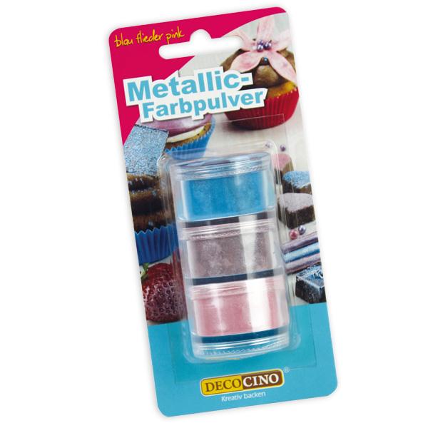 Farbpulver Metallic-glitzernd, blau, flieder, pink, 6g