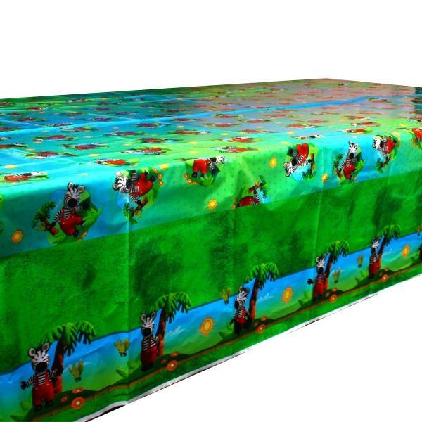 Zigby das Zebra Kindertischdecke, 130x180cm aus abwischbarer Folie