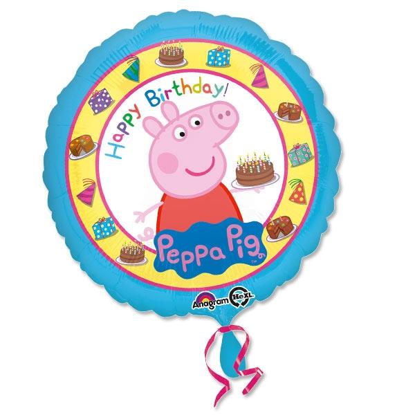 """Peppa Pig"" Folieballon, 1 Stk, Ø 35cm"