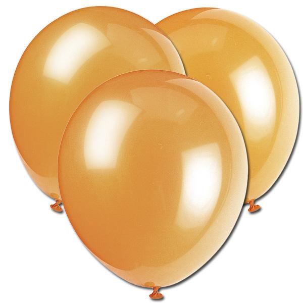 Latex-Ballons perlmuttfarben Champagne Gold, 8 Stück, für Helium