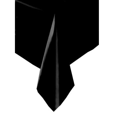 Tischdecke schwarz Folie 137×274cm