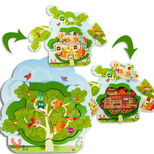 Eichhörnchens Haus, Holzspielzeug, 1 Stk, 26,9cm x 28,7cm