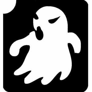 Geist mit Gänsehauteffekt Tattooschablone f. Gespenster-Tattoo 6 cm