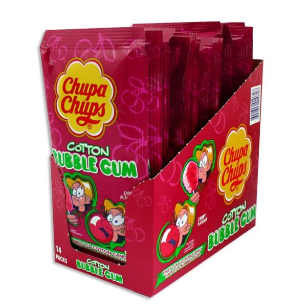 Grosspackung Zauberwatte von Chupa Chups, Kirsche, 14 Tütchen
