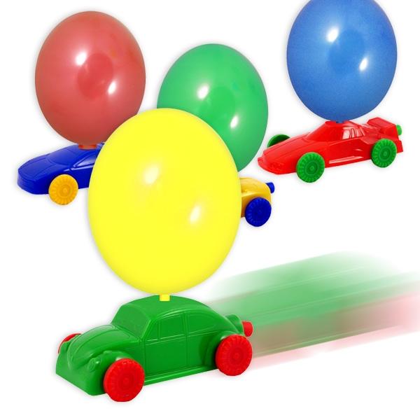 Ballon-Auto mit 2 Luftballons aus Latex, Spielzeugauto für Kinder