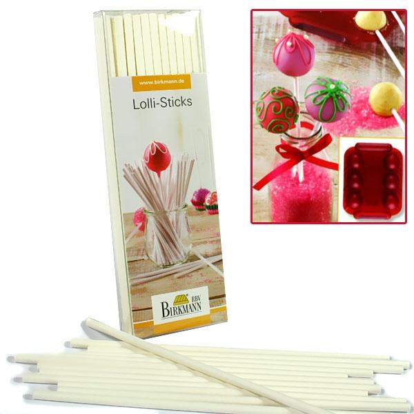 Lolli-Sticks 48er Pack, 15cm, für Lolli Cakes, 4mm Durchmesser