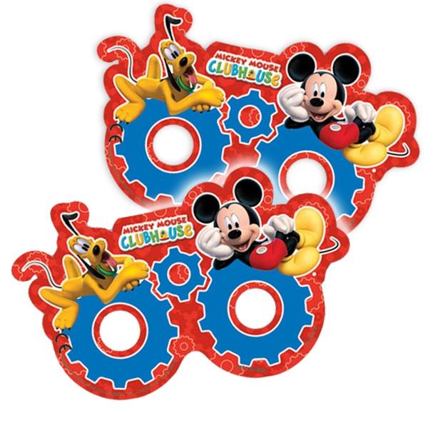 Mickey Maus Masken, 6er Pack Mickymaus-Partymasken für Kinder