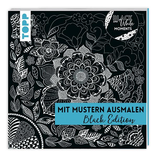 Mit Mustern ausmalen: Black Edition