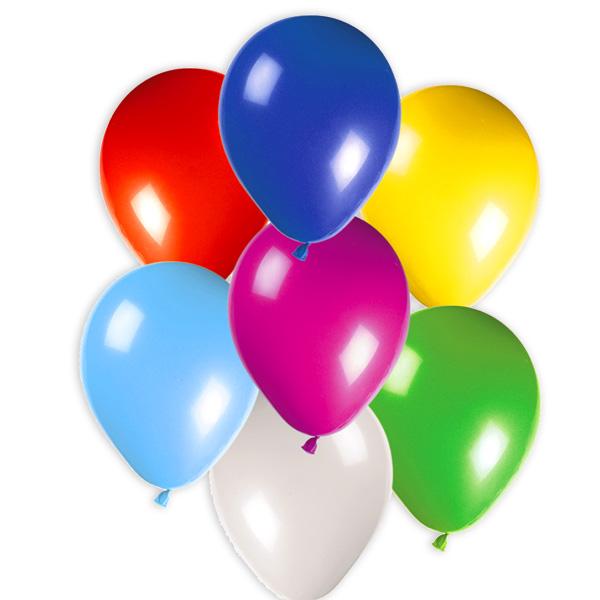 50 bunte Party-Ballons, 30cm