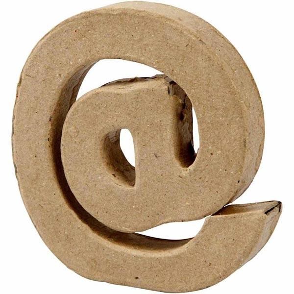 Zeichen @, handgearbeitet aus Pappe, zum Basteln, Bemalen, Verzieren