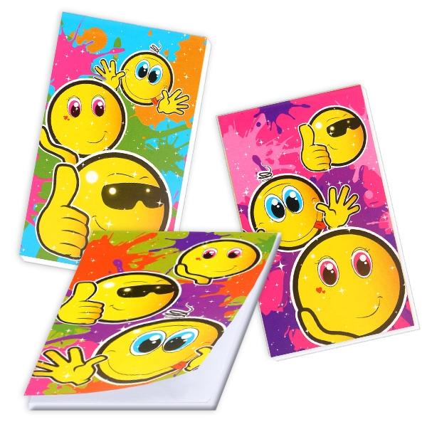 Smiley Notizblock für Kinder, Geschenkidee Schuleinführung, 1 Stk.