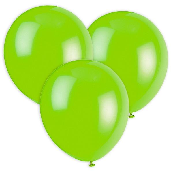 Hellgrüne Luftballons, 30cm, 10 Stück