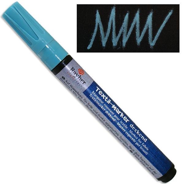 Textil-Marker deckend, babyblau, Rundspitze 2-4 mm, mit Ventil