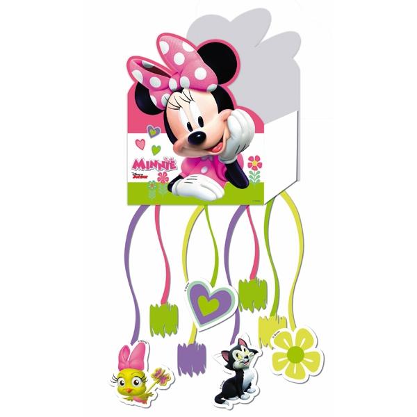 Minnie Zugpinata mit 8 Bändern für Minnie Mouse-Themengeburtstag