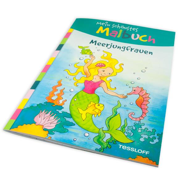 Mein schönstes Malbuch - Meerjungfrauen