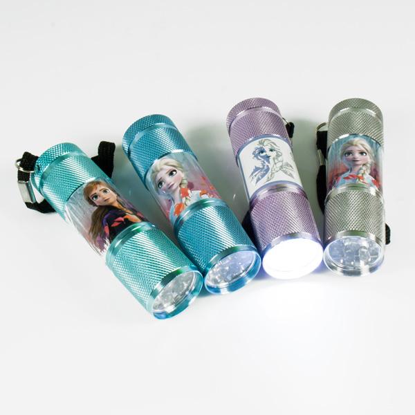 Süße FROZEN LED Taschenlampe für Kinder, 1 Stk, 8,7cm, mit Band