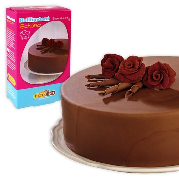 Rollfondant Schoko 250g, mit Schokoladen-Geschmack, für Fooddeko