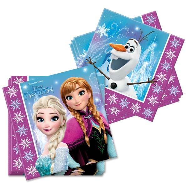 Frozen Servietten 20 Stück , zweilagige Kinderservietten, 33 cm