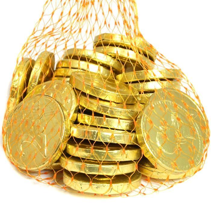 Kaubonbon-Goldmünzen 24 Stk. /130 g
