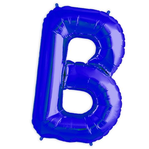 Folienballon Buchstabe B, 41 cm, für personalisierte Deko mit Namen etc.