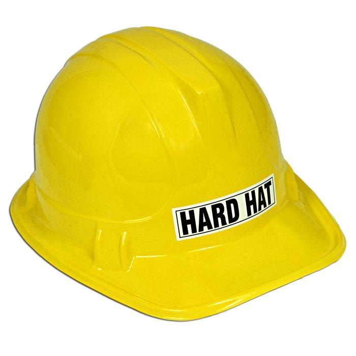 Bauarbeiterhelm für Kinder in Gelb für Bauarbeiterkostüm zum Fasching