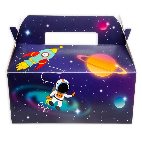 Weltraum Geschenkschachtel, 1 Stk, 23cm x 12,5cm x 23cm
