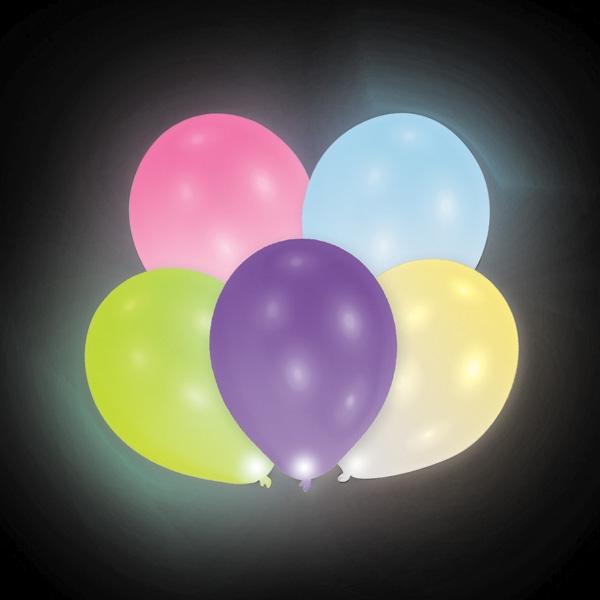 Bunte LED-Latexballons, 12er Beutel