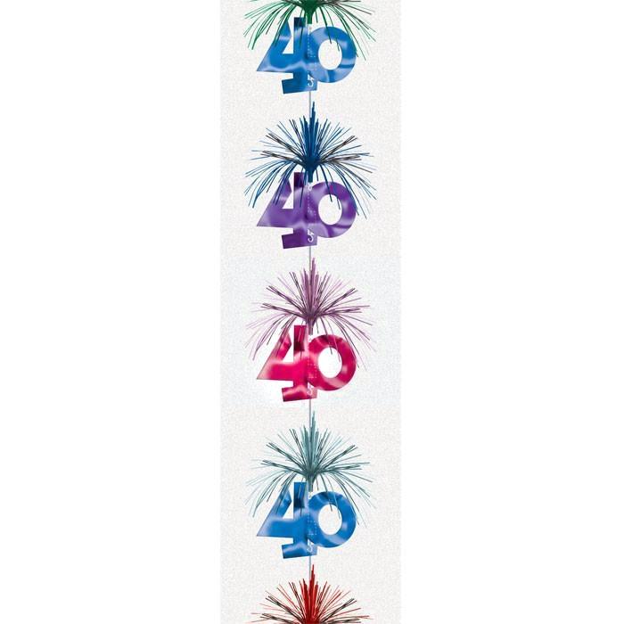 Hängedekoration 40.Geburtstag, Partydeko zum 40sten Bithday + Jubiläum