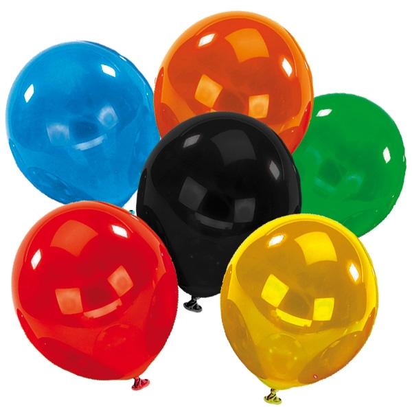 Luftballons Crystal 8 Stück, 25,4 cm