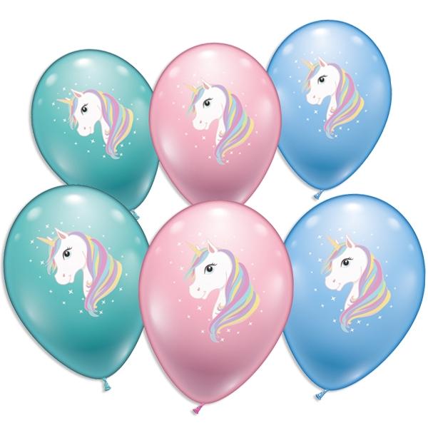 Schönes Einhorn, Ballons im 6er Pack