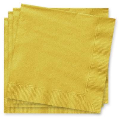 goldfarbene Partyservietten, zweilagig, 33×33cm, 20 Stück, Papier